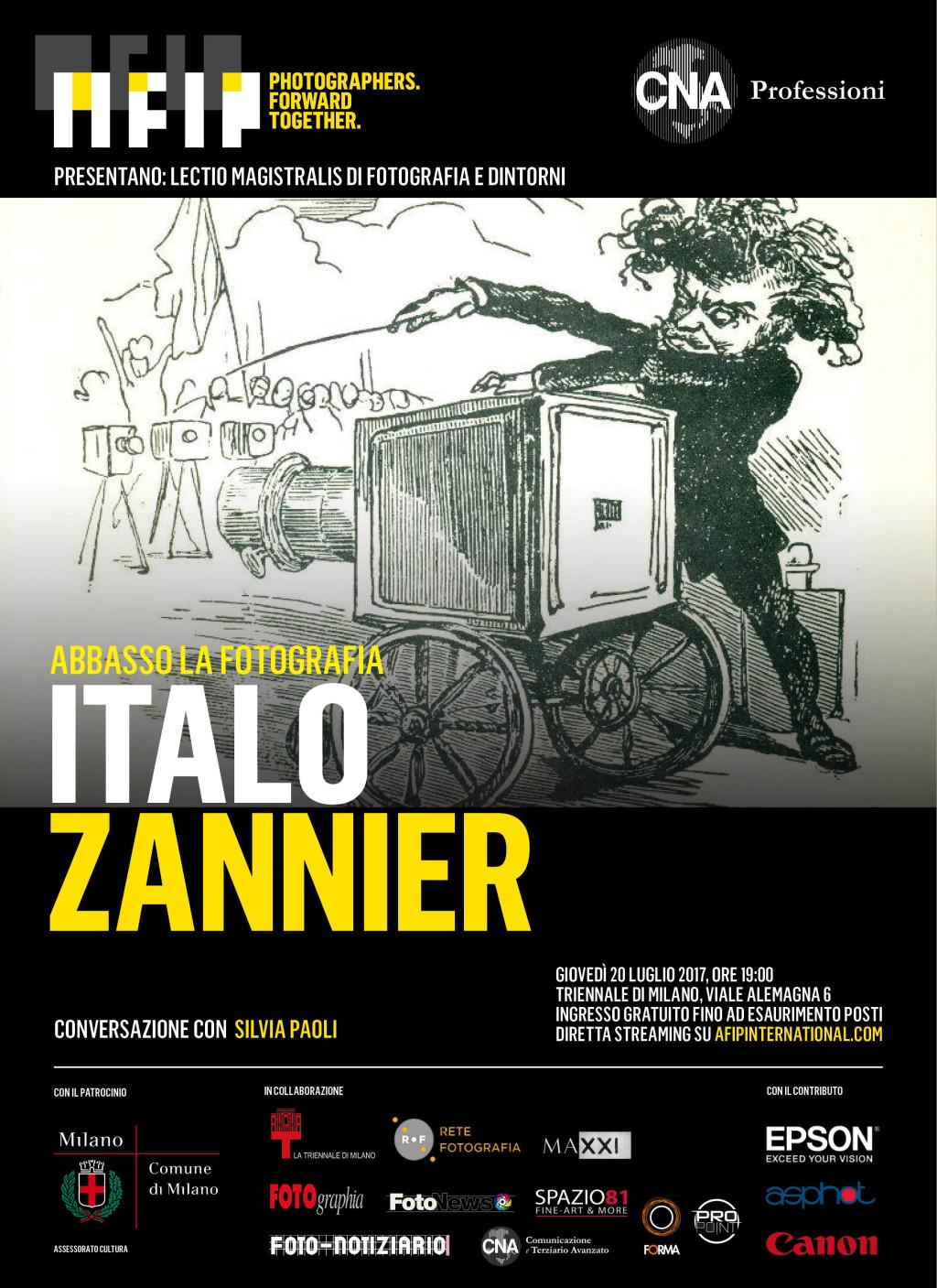 Lectio Magistralis di Fotografia e Dintorni – Italo Zannier. Abbasso la fotografia