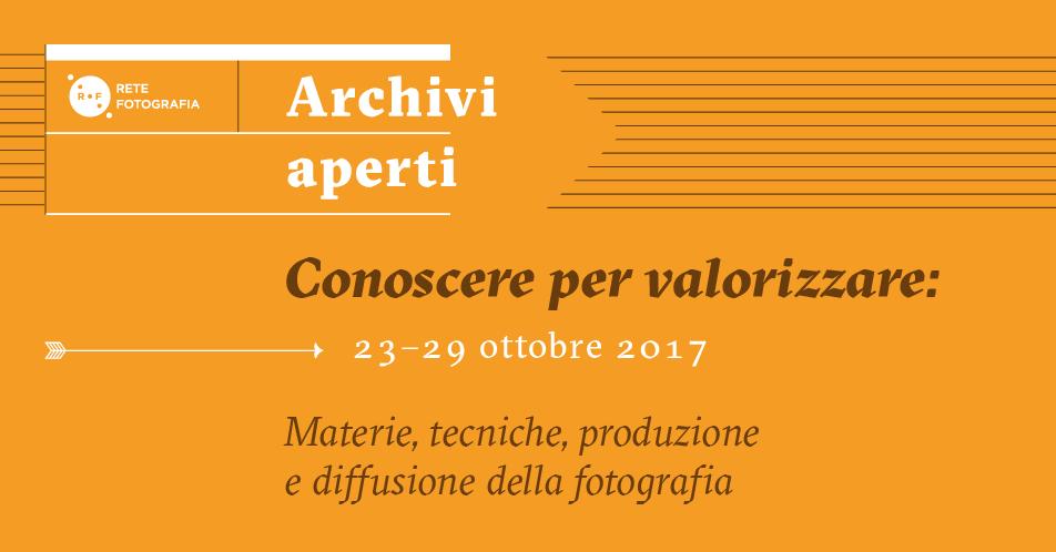 """3° Edizione Settimana """"Archivi Aperti"""""""