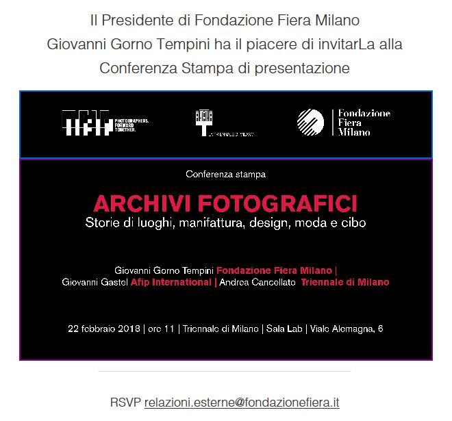 Fondazione Fiera – Archivi fotografici